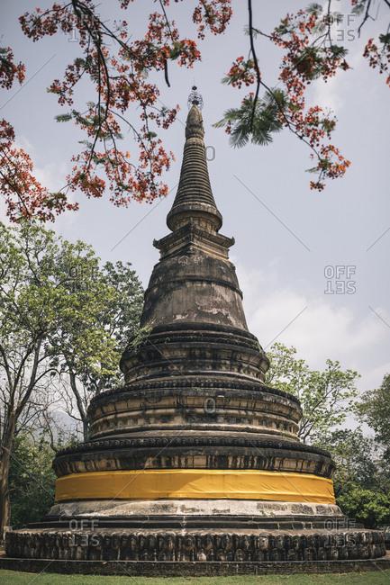 Chiang Mai, Thailand - May 21, 2017: Wat Umong in Chiang Mai, Thailand