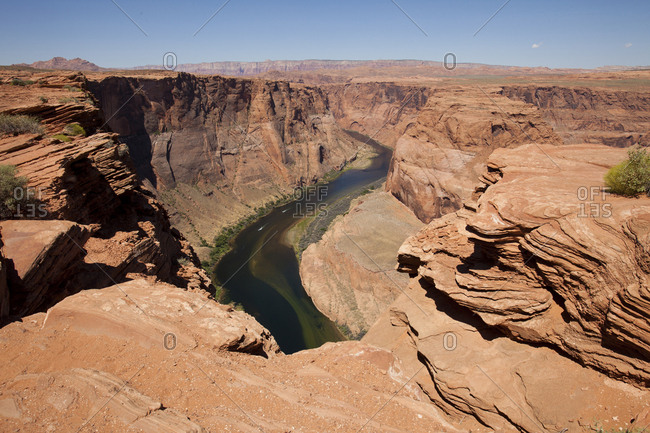 View of Colorado River at Horseshoe Bend
