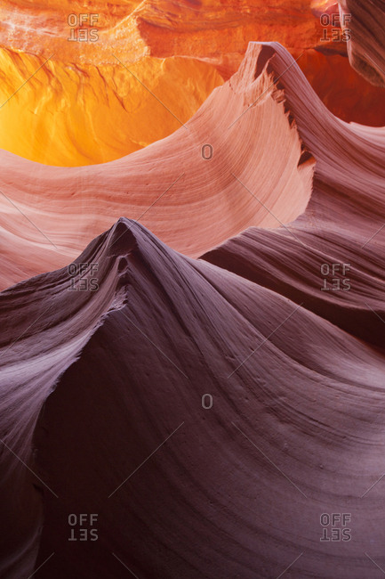 Ridges of stone