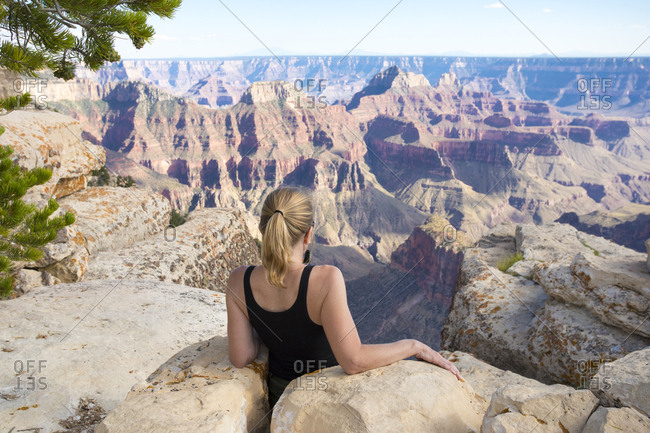 Woman viewing grand canyon