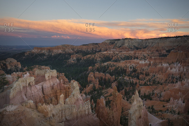 Sunset at Bryce Canyon Overlook