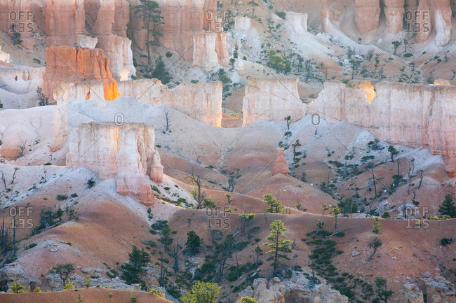 Landscape below the rim of Bryce