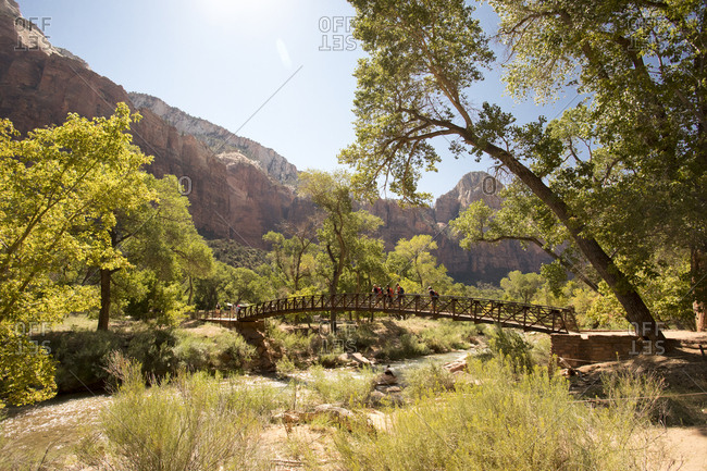 Over the Virgin river in Zion