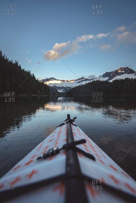 View from kayak of Phantom Lake in British Columbia, Canada