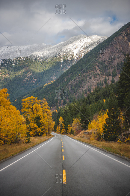 Duffey Lake Road in autumn, British Columbia, Canada