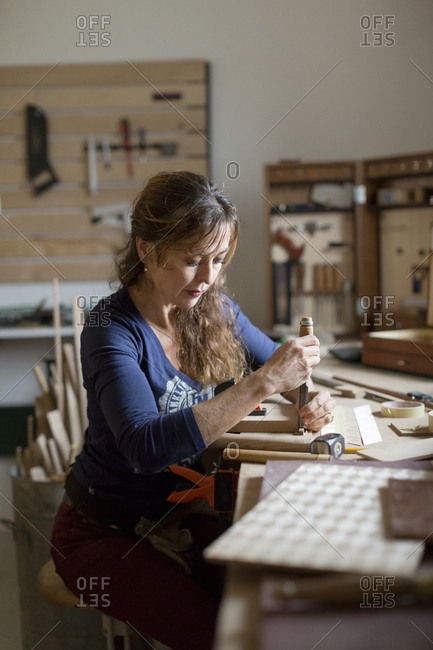 Woman working in workshop