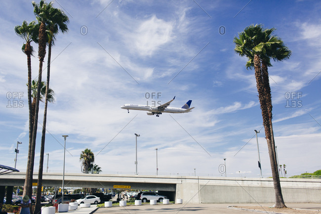 August 13, 2015: Plane flies over LAX airport
