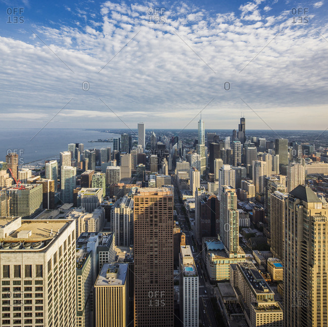 June 10, 2017: USA, Illinois, Chicago . Downtown, Gold Coast, view of the town