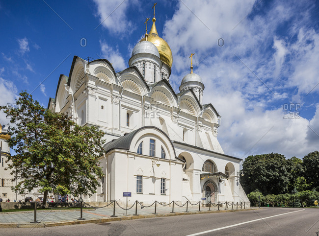 July 31, 2017: Russia, Moscow . The Cathedral of the Archangel, a Russian Orthodox church dedicated to the Archangel Michael. It is located in the Cathedral Square of the Moscow Kremlin