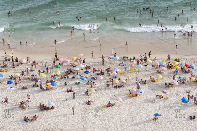 Ipanema Beach, Rio de Janeiro, Brazil, South America - January 30, 2016: Ipanema Beach