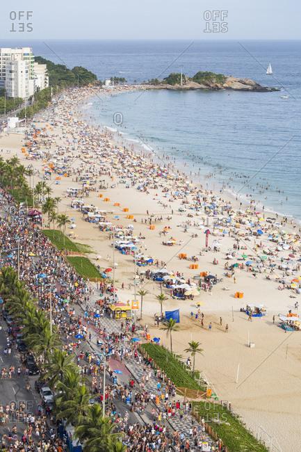 Ipanema Beach, Street carnival, Rio de Janeiro, Brazil, South America - January 30, 2016: Ipanema Beach, Street carnival