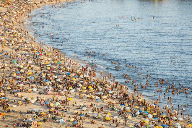 Ipanema Beach, Rio de Janeiro, Brazil, South America - January 31, 2016: Ipanema Beach