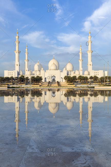 Abu Dhabi, United Arab Emirates, Middle East - February 8, 2017: Sheikh Zayed Bin Sultan Al Nahyan Mosque