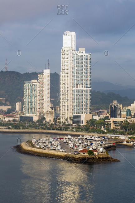 Panama City, Panama, Central America - May 5, 2017: Apartment towers