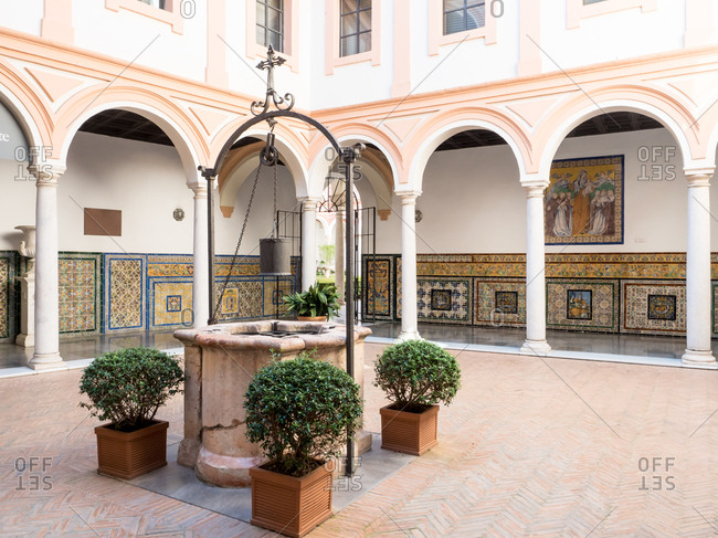 Seville (Sevilla), Andalucia, Spain, Europe - April 6, 2017: Seville's Museum of Fine Arts housed in the former Convent of Mercy
