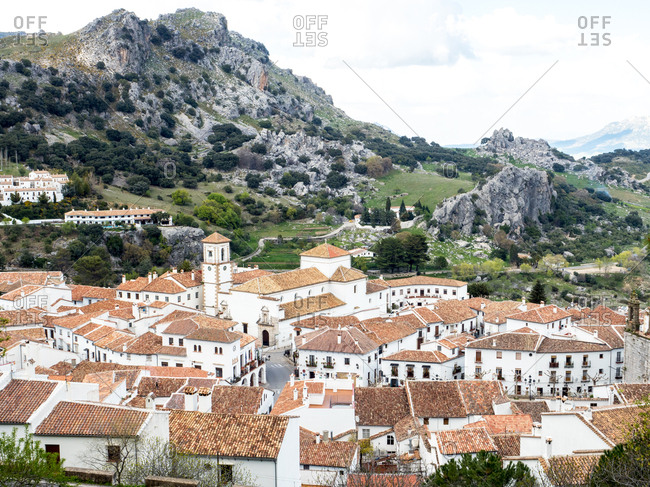 Andalucia, Spain, Europe - March 28, 2017: Grazalema