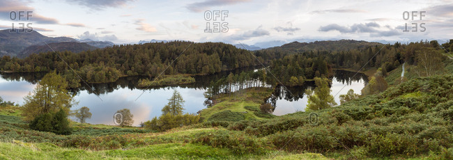 Tarn Hows near Hawkshead, Lake District National Park, UNESCO World Heritage Site, Cumbria, England, United Kingdom, Europe