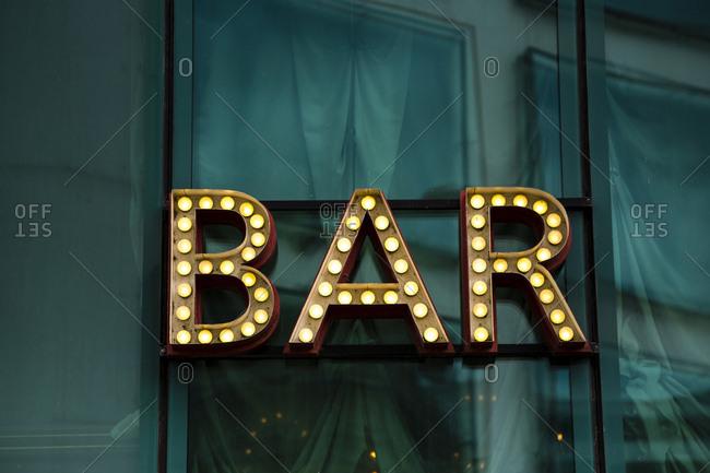 Shining bar sign