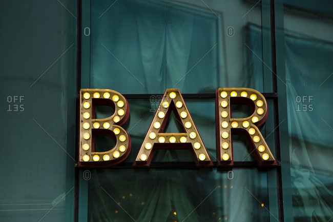 Shining bar sign
