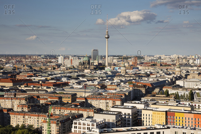August 4, 2017: Germany- Berlin- elevated city view