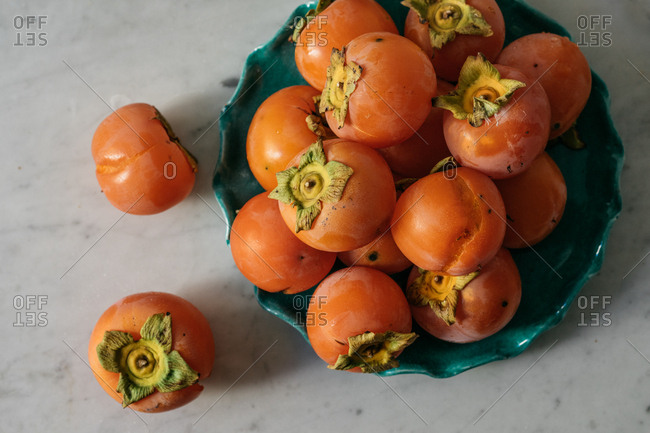 Japanese Persimmon in a bowl