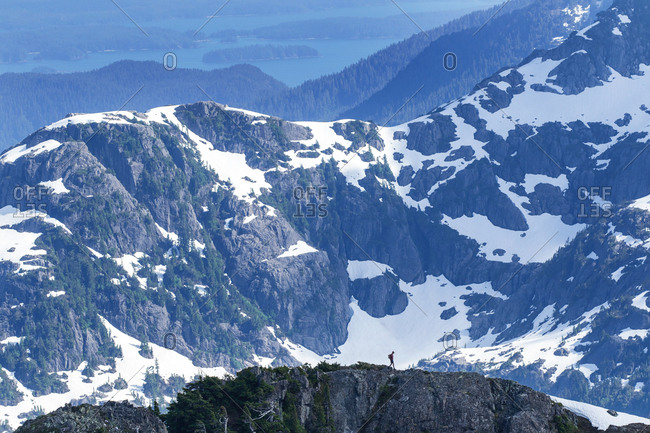 Snowy mountains on Vancouver Island, British Columbia, Canada