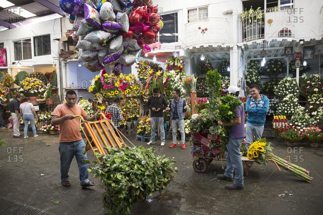 Mexico City, Mexico - November 1, 2017: Mercado de Jamaica