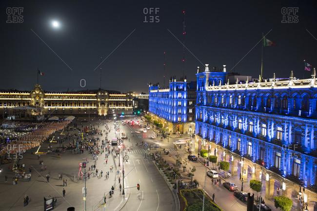Mexico City, Mexico - November 3, 2017: Zocalo square