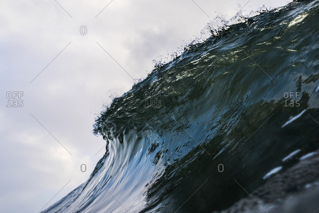Low angle view of large swell