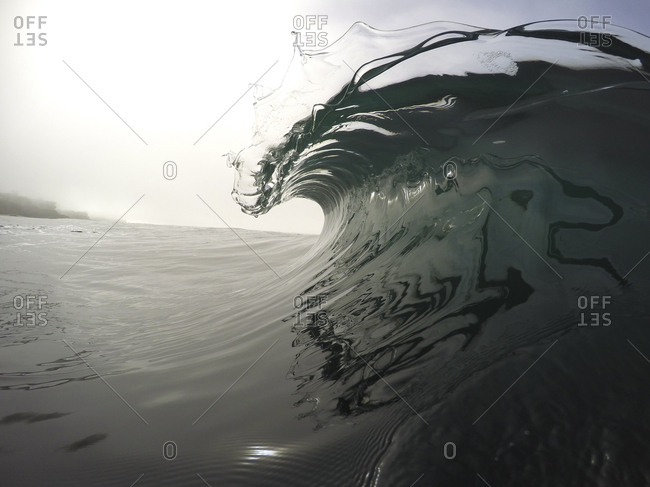 Close-up of waves against clear sky