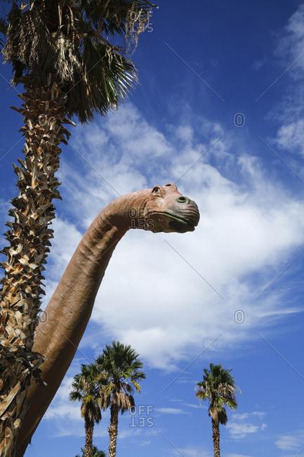 Dinosaur sculpture at roadside attraction