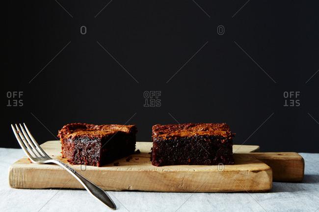 Japanese chocolate mochi cake