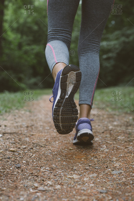 Close-up of a woman running