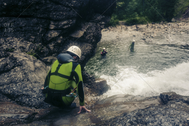 Germany- Bavaria- Allgaeu- canyoning in Ostertal