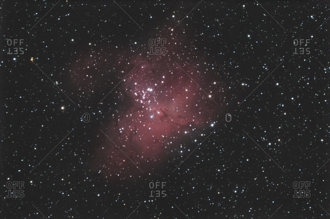 Astronomical photography- M16 eagle nebula