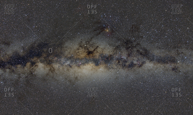 Namibia- Region Khomas- near Uhlenhorst- Astrophoto- Band of Milky Way featuring the bulge of our galaxy and the galactic center