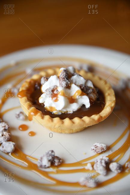Mini bourbon pecan pie