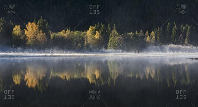 Autumn landscape by Lake Selbusjoen