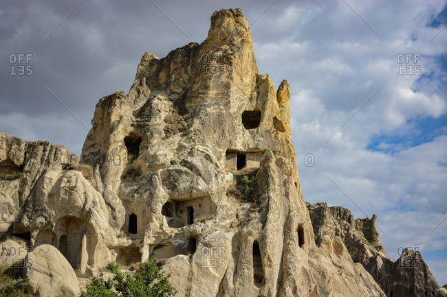 Cave dwellings dug into fairy chimneys provided residences for thousands of years