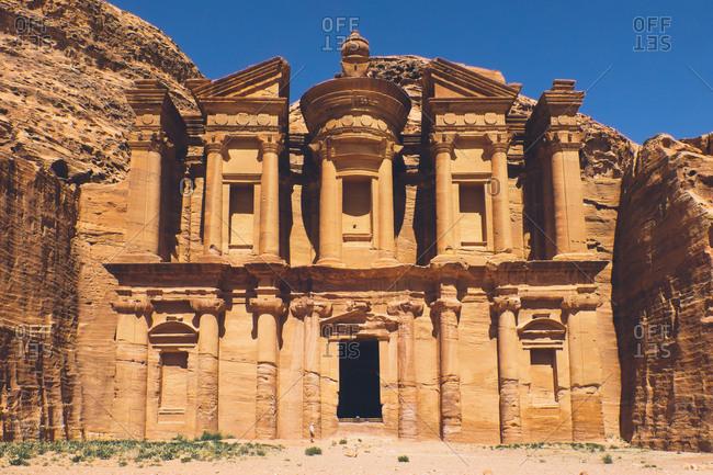 Petra, Jordan - April 7, 2017: The Treasury at Petra