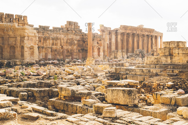 The Great Court of Baalbek remains in Lebanon