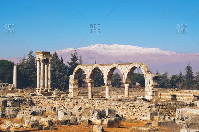 Stone archway remains, Anjar, Lebanon