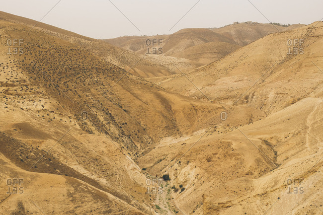 Hilly desert in West Bank, Israel (Palestine)