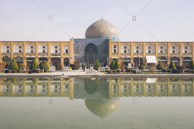 Naqsh-e Jahan Square, Isfahan, Iran - December 31, 2016: Sheikh Lotfollah Mosque