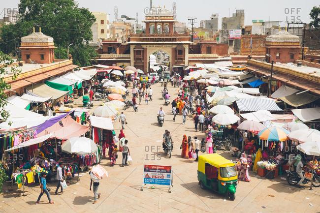 Jodhpur, India - May 24, 2017: Marketplace in Jodhpur, India