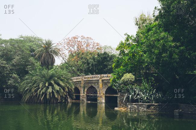 Lodi Garden bridge in New Delhi, India
