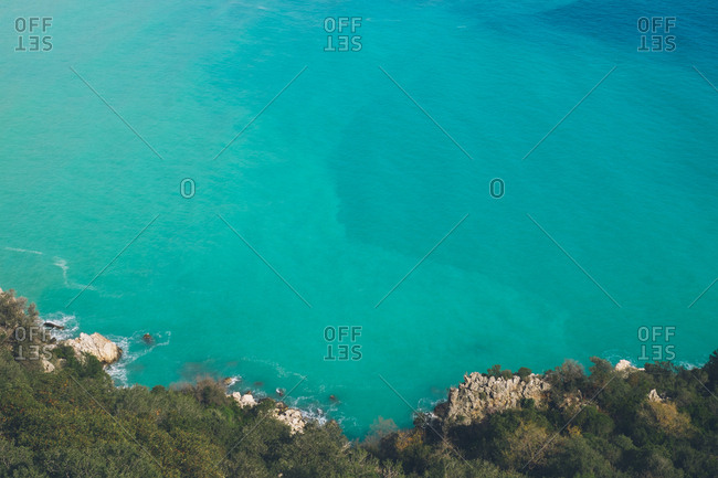 Turquoise waters along the coast of Cirali, Turkey
