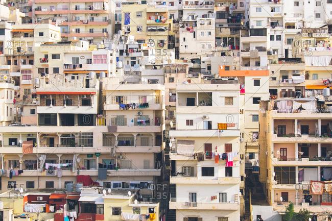 Apartment buildings in Tripoli, Lebanon