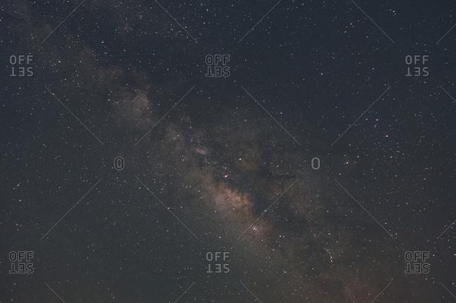 View of the Milky Way Galaxy from the Wadi Rum desert, Jordan