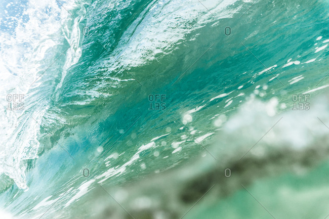 Close-up of rolling waves in sea